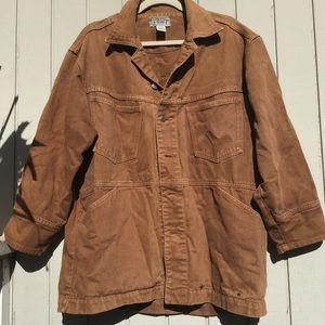 Men's brown denim jacket